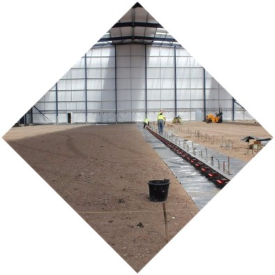 монтаж бетонного пола промышленных зданий