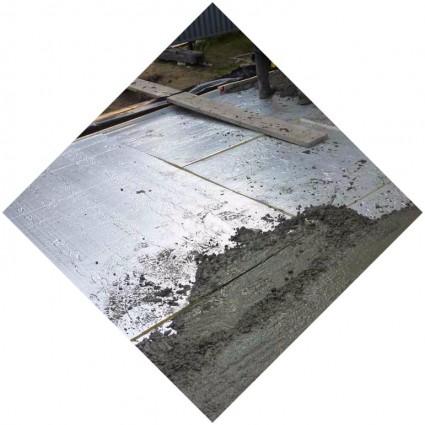 цементное покрытие в гараж