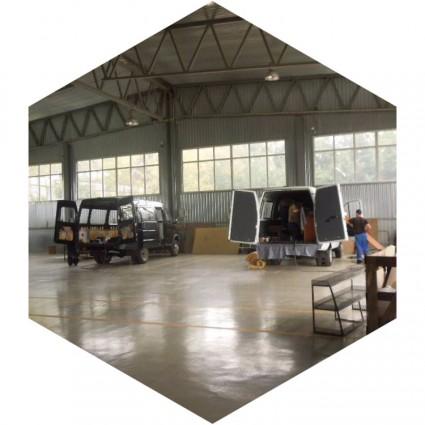 бетонный полы в автосервисе
