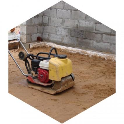 фото пола на грунту из бетона