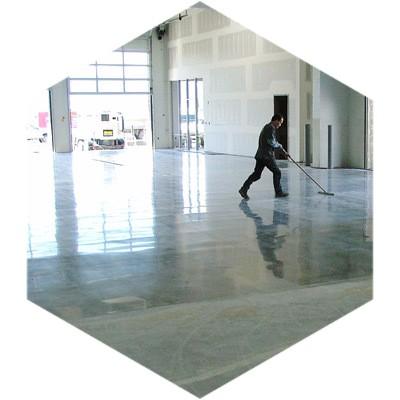 фото бетонного пола на акриловой системе