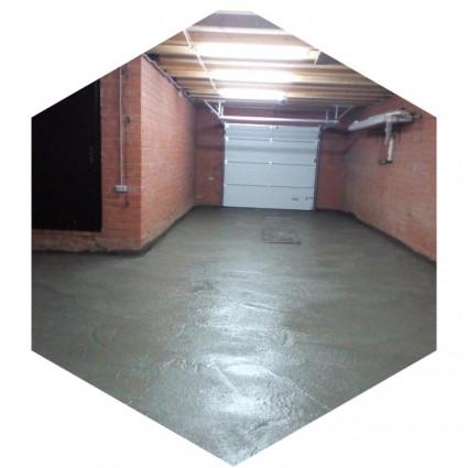 фото бетонирования пола в гараже