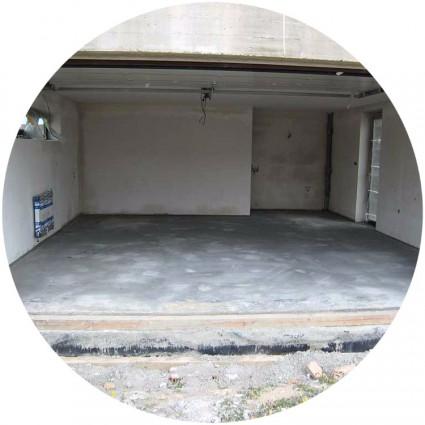 забетонированный пол для гаража