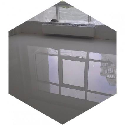 фото белого наливного пола