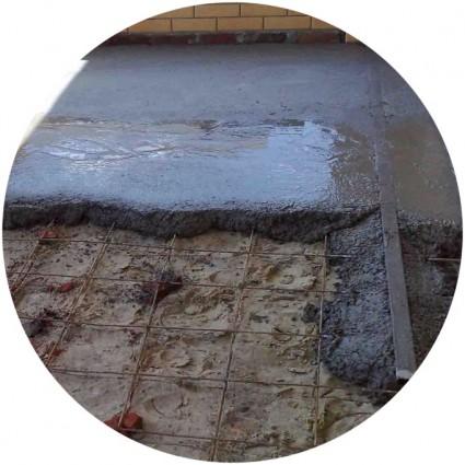 фото чернового бетонного пола