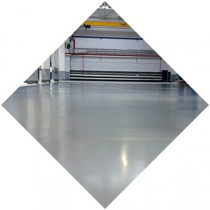 бетонный наливной пол для цеха