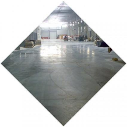упрочненный бетонный пол с топпингом