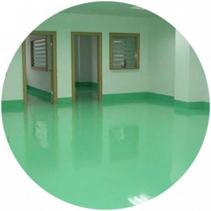 Зеленый наливной пол