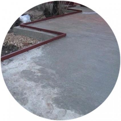Заливка бетонного покрытия