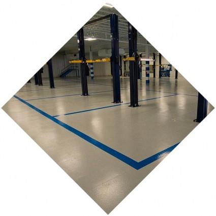 Полимерный пол для зданий